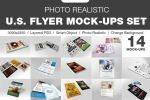 14 Photo Realistic Flyer Mock-Up Set by calwincalwin
