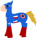 Captain America Pony by Demyxthemusican
