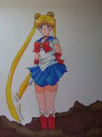 sailor moon by aloneintown