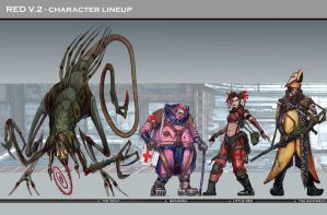 Character Lineup for Red story by jubjubjedi
