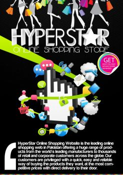 Hyperstar Poster | online shopping store project by umayrr
