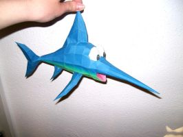 PAPERCRAFT Enguarde the swordfish by 18lala111