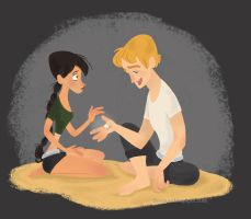 Katniss, Peeta and the Pearl by seemarox