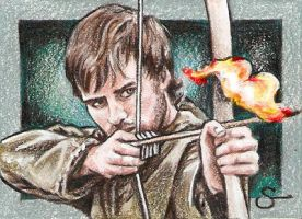 Jonas Armstrong as  Robin Hood by scotty309