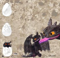 HTTYD - Baby Nightfury by Cryobash