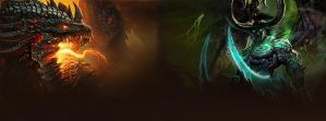 Deathwing and Illidan - Facebook Timeline by DremoraValkynaz