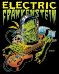 Electric Frankenstein Poster COLOURED by Huwman