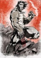 wolvie in blood by orbisaur1
