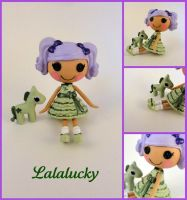 Lalalucky - custom mini Lalaloopsy by hannaliten