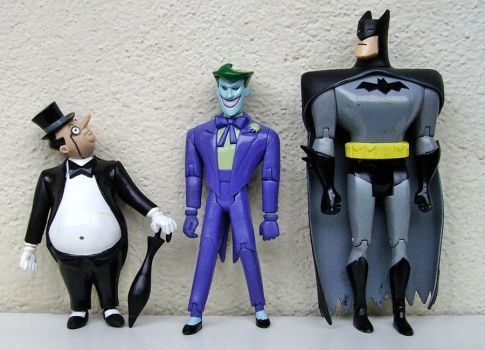 The Penguin, the Joker and Batman by General-Custer