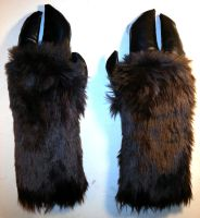 Hand Hooves - furry and vinyl sewn hand paws by Irradiated-Rabbit