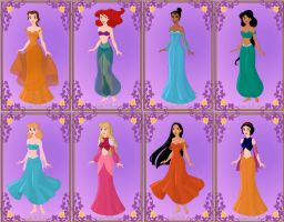 Disney Arabian Princesses by GingerLass0731