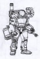 Marauder Power Armour by Frikxnel
