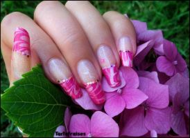 marbled french manicure 3 by Tartofraises