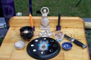 handfasting alter by wiccanwitchiepoo