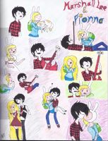 Marshall Lee and Fionna by Lucia-Huntress