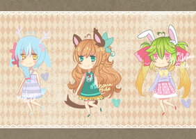Spring Animal Adopts [CLOSED] by Miehana