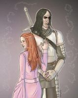 Sansa and Sandor by Lamaraloon