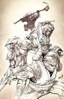 Sketch Jam - Final Fantasy XI by AenTheArtist