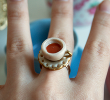 Tiny Teacup Ring by kittykaya