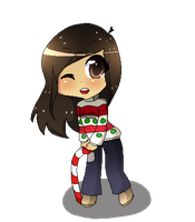 christmas chibi by saeriin
