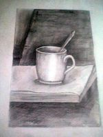 some sketch of a cup on a book by PistachioSnails