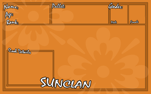 Sunclan App Sheet by collie-rado