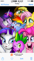 Mane 6 Silly Selfie by LennonBlack