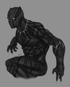 Black Panther-The King of Wakanda by SaifuddinDayana