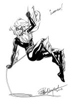 Black Cat comicon sketch - Cartoomics 2012 by elena-casagrande