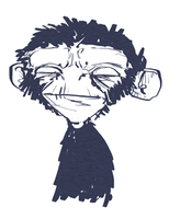 Chimp doodle by bensigas