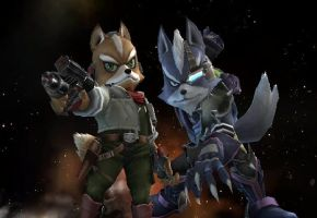SSBB - Fox and Wolf by Zakca
