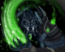Worgen Druid - WIP by Miirkat