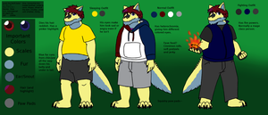 Jacob Reference Sheet (Anthro) by JomoOval