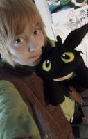 Hiccup and Mini-Toothless by Hukkis