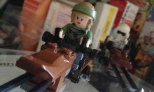 Speeder-Bike chase - Leia by Anonyme003