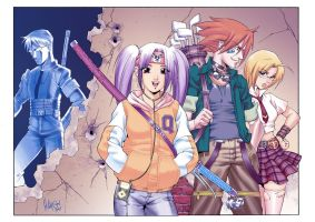 Ninja Highschoolers Color by Dhutchison