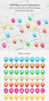 120 Map Icons Collection by ottoson