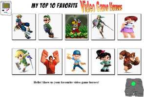 My Top 10 Video Game Heroes by jacobyel