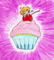 Giant cupcake, yay~ by pikamuse