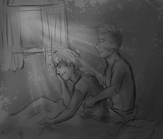 Here for you -sketch- by JoyousInsomnia