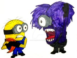Attack of the Crazy Purple Monster-like Minion? by InkArtWriter