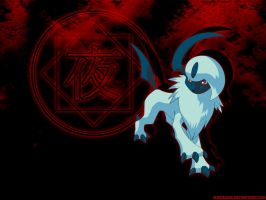 Absol - Bloody Night by Slifer2006