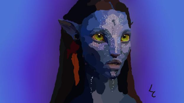 Neytiri, warrior of the Na'vi by furbyeater