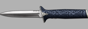 Pretty OTF Knife by sharp-n-pointy
