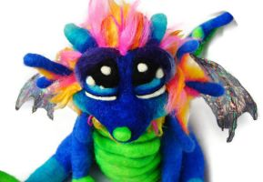 Baby Inkberry Dragon pup by Tanglewood-Thicket