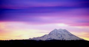 Sunrise Over Mt. Rainier by Lascivus
