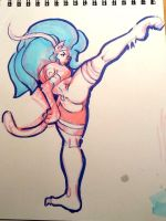 Felicia cheek prod marker sketch 05 by Koricthegreat