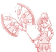 Shadow Labrys by Ninkaytoo