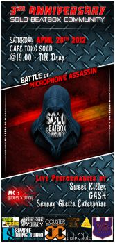 Flyers design for Solo Beatbox Community by Simplethingstudio